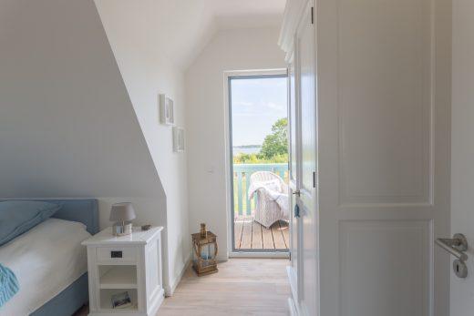 Ferienhaus Nautilus Schlafzimmer mit Doppelbett